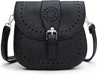 Forestfish Ladie's PU Leather Vintage Hollow Bag Crossbody Bag Shoulder Bag
