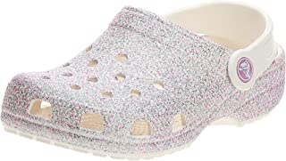 Crocs Unisex-Child Kids' Classic Clog | Glitter Girls | Slip on Shoes