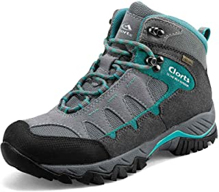 Clorts Women's Hiking Boots Waterproof Suede Leather...