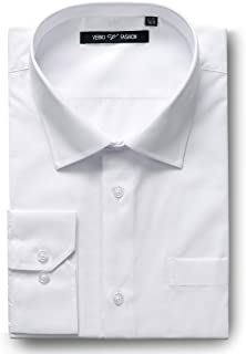 Men's Dress Shirts Regular Fit Long Sleeve Solid Formal Business shirt- Available in More Colors
