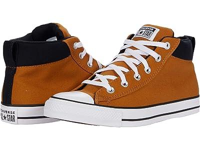 Converse Chuck Taylor(r) All Star(r) Street Seasonal Color Mid (Dark Soba/Black/White) Classic Shoes