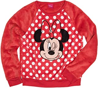 Disney Minnie Mouse Winking Girls' Long Sleeve Crew Neck Sweatshirt (M (7-8))