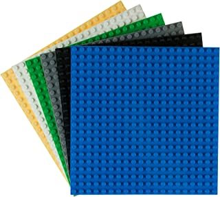 """Strictly Briks Classic Baseplates 6"""" x 6"""" Building Brick Base Plates 100% Compatible with All Major Brands 