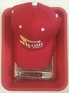 In N Out Burger Employee Uniform in Tray=Apron, Pin and Ball Cap with Free Secret Menu