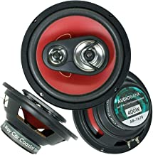 $25 » 2X Audiobank 6.5-Inch 400 Watts Maximum Power Handling 4-Way Red Car Audio Stereo Coaxial Speakers Rubber Coated Cloth Spe...