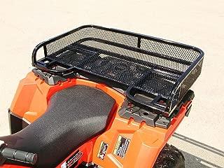 Polaris Sportsman 450//570 Rear Flat Basket Rack Wrinkle Black By Strong Made 572W