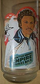 Vintage 1980 Star Wars Burger King Empire Strikes Back Glass: Lando Calrissian with Princess Leia and Hans Solo