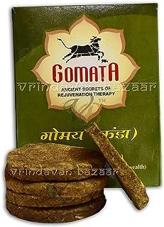 VRINDAVANBAZAAR.COM Cow Dung Cake/Kanda/UPLA for HAWAN PUJA Meditation with guggle, Kapoor, Chandan,laung & Others (20)