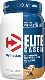 Sponsored Ad - Dymatize Elite Casein Protein Powder, Slow Absorbing with Muscle Building Amino Acids, 100% Micellar Casein...