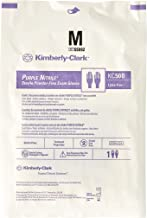 Kimberly Clark Safety 55092 Purple Nitrile Exam Glove, Sterile Pairs, Medium (Pack of 50)