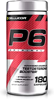 Cellucor P6 Original Testosterone Booster For Men, Build Advanced Anabolic Strength & Lean Muscle, Boost Energy Performanc...