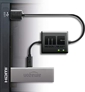 【最新版 Amazon Fire TV Stick専用】 Mission cables あらゆるテレビ USBポートから AC電源を使用せず利用可能 テレビ TV 配線を美しく 壁掛けテレビにも最適 TV マウント アクセサリー(※Fire TV 本体は含まれません)
