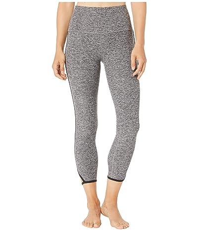 Beyond Yoga Slip Open High-Waisted Spacedye Midi Leggings (Black/White) Women
