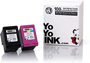 YoYoInk Remanufactured Ink Cartridge Replacement for HP 63XL 63 XL High Yield (1 Black, 1 Color; 2 Pack)