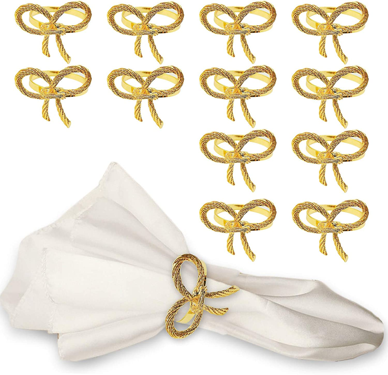 MJartoria Popular brand in the world Tie Napkin Rings Set 12 of Holder Ring High material