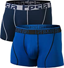 """Tesla Men's (Pack of 2, 3) Relaxed Stretch Cool Dry Brief Seamless Trunks No-Lines Underpants 2.5"""" / 3"""""""