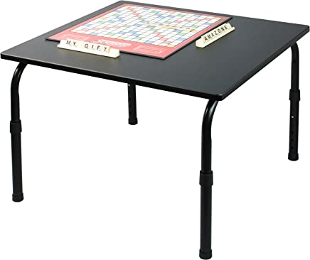 MyGift Adjustable Height Games & Activity Table,  Workstation Desk Riser,  Black - Made in Taiwan
