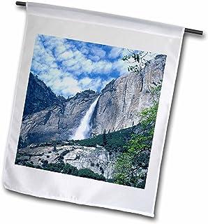 3dRose fl_88384_1 Upper Yosemite Falls Yosemite National Park CA US05 Djo0046 Diane Johnson Garden Flag, 12 by 18-Inch