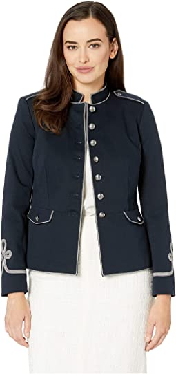 Soutache-Trim Officer's Jacket
