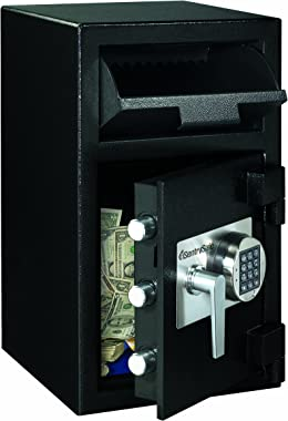 Sentry Safe DH109E Depository Safe, 1.09 ft3, 14w x 15-3/5d x 24h, Black (SENDH109E)