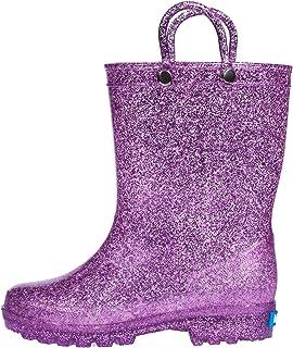 hibigo Children's Waterproof PVC Rain Boot with Handles Lightweight & Comfortable Easy for Little Kids & Toddler Boys Girls