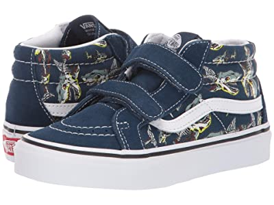 Vans Kids SK8-Mid Reissue V (Little Kid/Big Kid) ((Zombie Sharks) Gibraltar Sea/True White) Boys Shoes