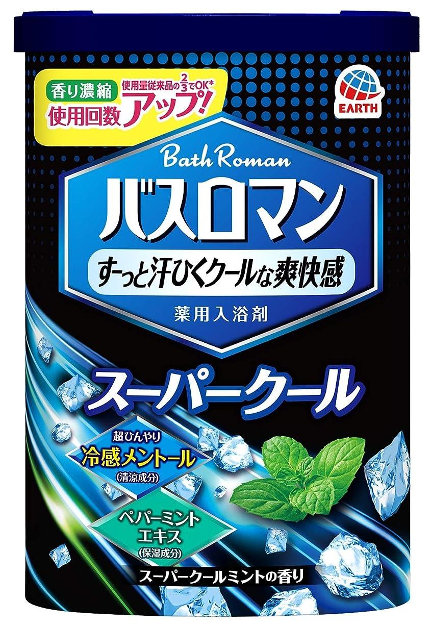 傾いた報酬船【医薬部外品】バスロマン 入浴剤 スーパークールタイプ [600g]
