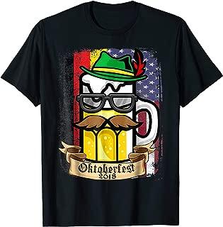 Vintage Oktoberfest 2018 T-Shirt - German American Flag TEE