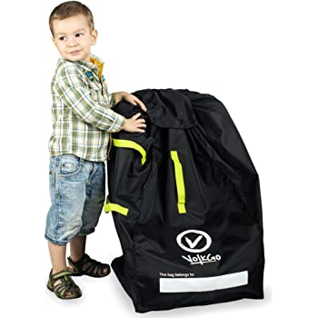 VolkGo Durable Car Seat Travel Bag with E-Book –– Ideal Gate Check Bag for Air Travel & Saving Money –– for Safe & Secure Car Seat –– Fits Car Seats, Infant Carriers & Booster