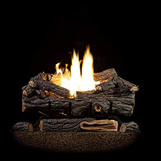 Sure Heat RS18VFTLP Vent Free Dual Burner Log Set for Liquid Propane Fueled Fireplace, 18
