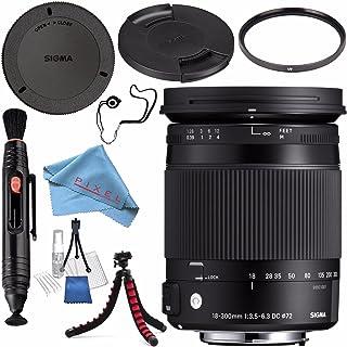 Sigma 18–300mm f / 3.5–6.3DCマクロOS HSM Contemporaryレンズfor Nikon F 886306+ 72Mm Uvフィルタ+レンズペンクリーナー+ FiberCloth +レンズCapkeeper +レンズクリーニングキット+柔軟な三脚バンドル
