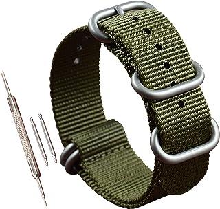 MZBUTIQ Bracelets de Montres Nylon Strap 5 Boucles(18 19 20 21 22 23 24 25 26 28mm)