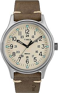 ساعت مچی چرم قهوه ای TIMEX-TW2R96800