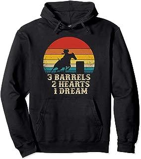 Barrel Racing Horse Riding - 3 Barrels 2 Hearts 1 Dream Pullover Hoodie