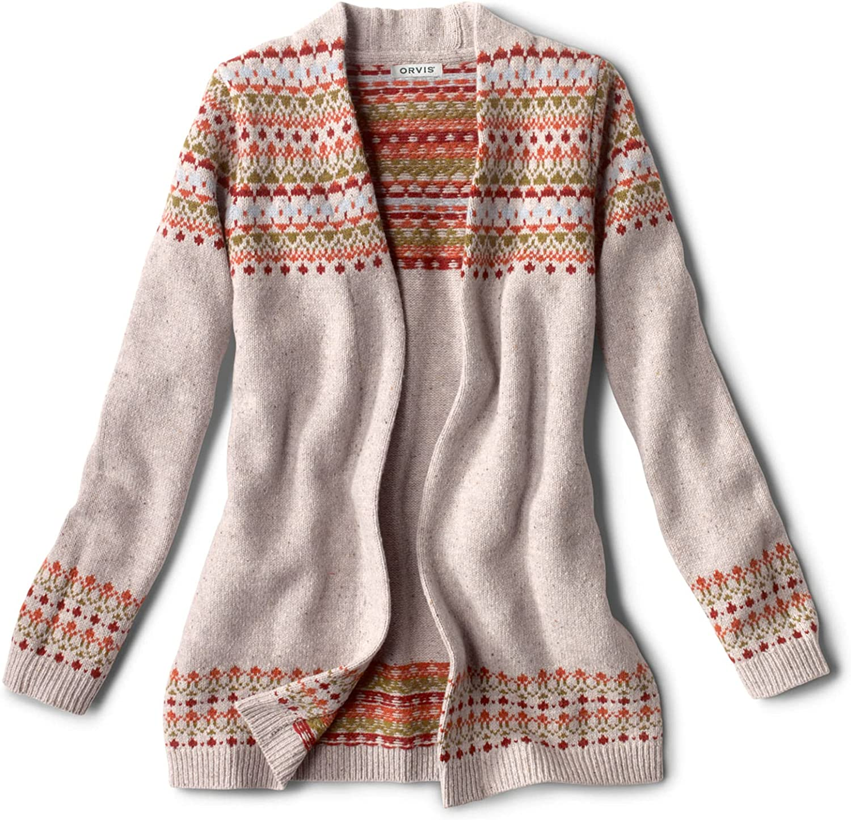 Orvis Women's Multicolor Fair Isle Cardigan Sweater