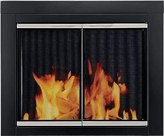 Pleasant Hearth Alsip Sunlight Nickel Glass Firescreen Doors - Medium