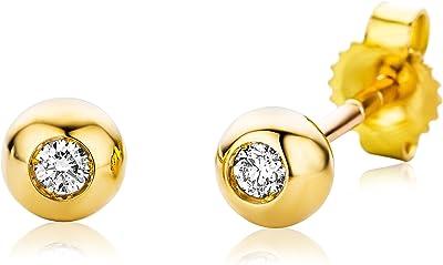 Miore - Pendientes oro y diamantes 0.06 ct