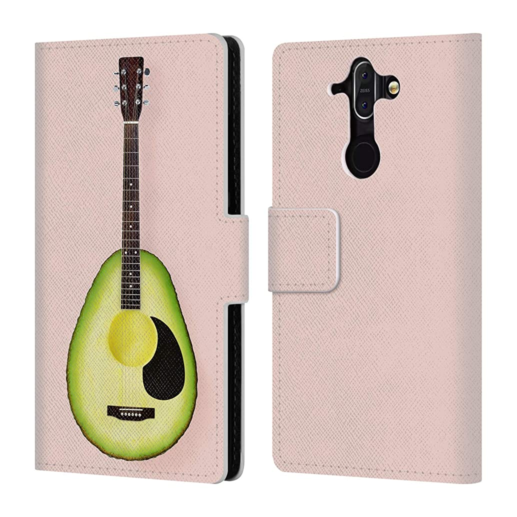 Official Paul Fuentes Avocado Guitar Pastels Leather Book Wallet Case Cover for Nokia 8 Sirocco