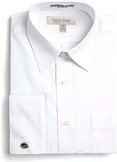Adam Baker Men's Big & Tall Long Sleeve Button Cuff & French Cuff Formal Solid Dress Shirt