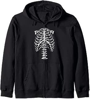Skeleton Ribs Bones Zip Hoodie