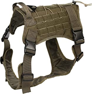 Feliscanis Tactical Dog Training Vest Harness Adjustable Service Dog Vest RG Szie L