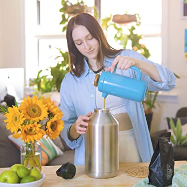 The Lobo 128 OZ Ultra Capacity Insulated Leak & Spill Proof Stainless Steel Vacuum Bottle Thermos Transport Keeps Hot &am