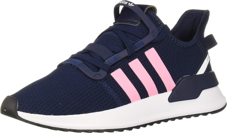 adidas Originals unisex child U_path Running Shoe, Collegiate Navy/Light Pink/White, 5 Big Kid US