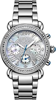 JBW Luxury Women's Victory 16 Diamonds Mother of Pearl Chronograph Watch - JB-6210-D