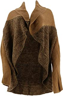 Collection Open Shawl Collar Wrap Sweater A278942
