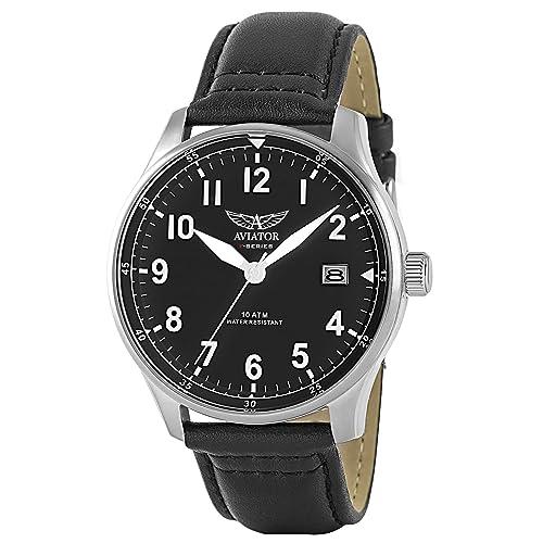 Aviator F-Series Men Vintage Watch - World War II Pilot Design with Quartz Movement