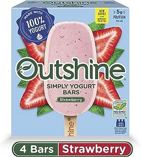 OUTSHINE Strawberry Simply Yogurt Bars, 4 Ct. Box   Gluten Free   Non GMO