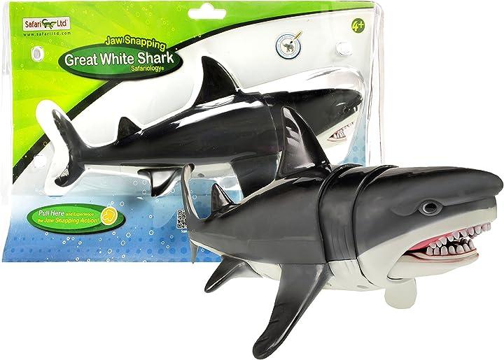 Squalo giocattolo safari 352240 - ganascia con squalo bianco 352240