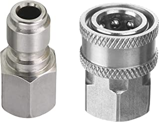 Tool Daily Pressure Washer Adapter Set, 3/8 Inch Quick Connect Kit, Female Fitting, Stainless Steel, 5000 PSI