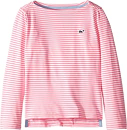 Long Sleeve Boat Neck Simple Tee (Toddler/Little Kids/Big Kids)